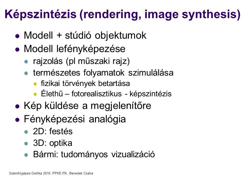 Képszintézis (rendering, image synthesis)