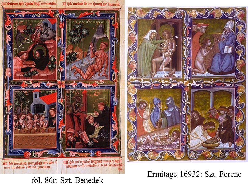 Ermitage 16932: Szt. Ferenc fol. 86r: Szt. Benedek