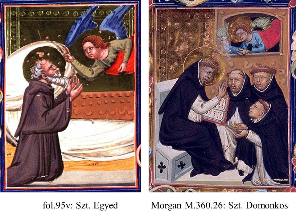 fol.95v: Szt. Egyed Morgan M.360.26: Szt. Domonkos