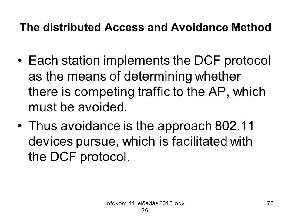 The distributed Access and Avoidance Method