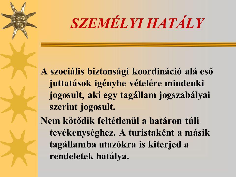 SZEMÉLYI HATÁLY