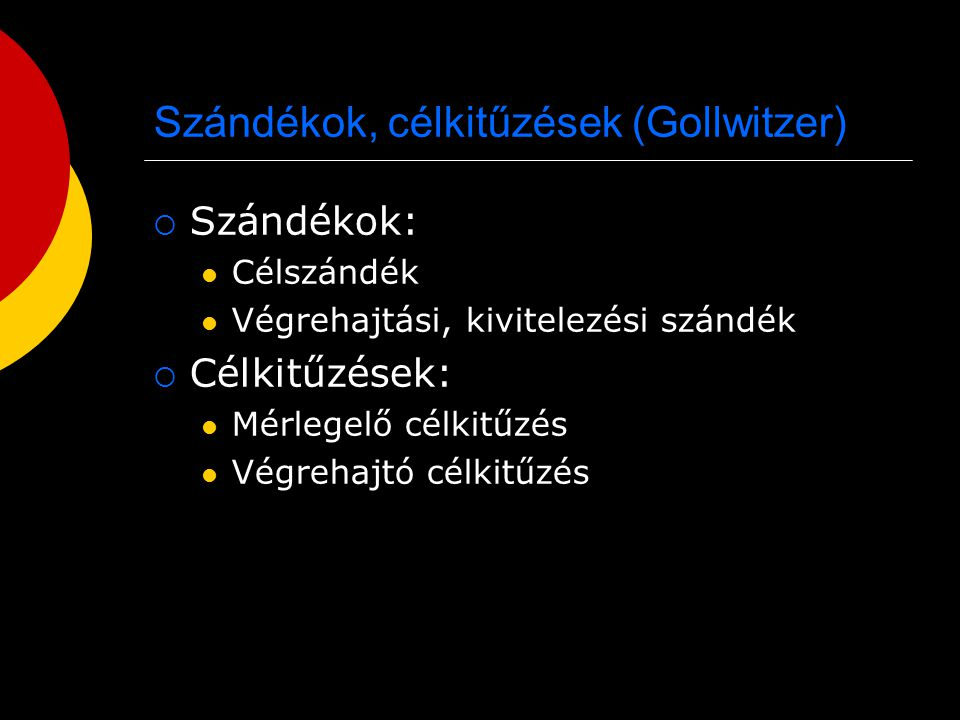 Szándékok, célkitűzések (Gollwitzer)