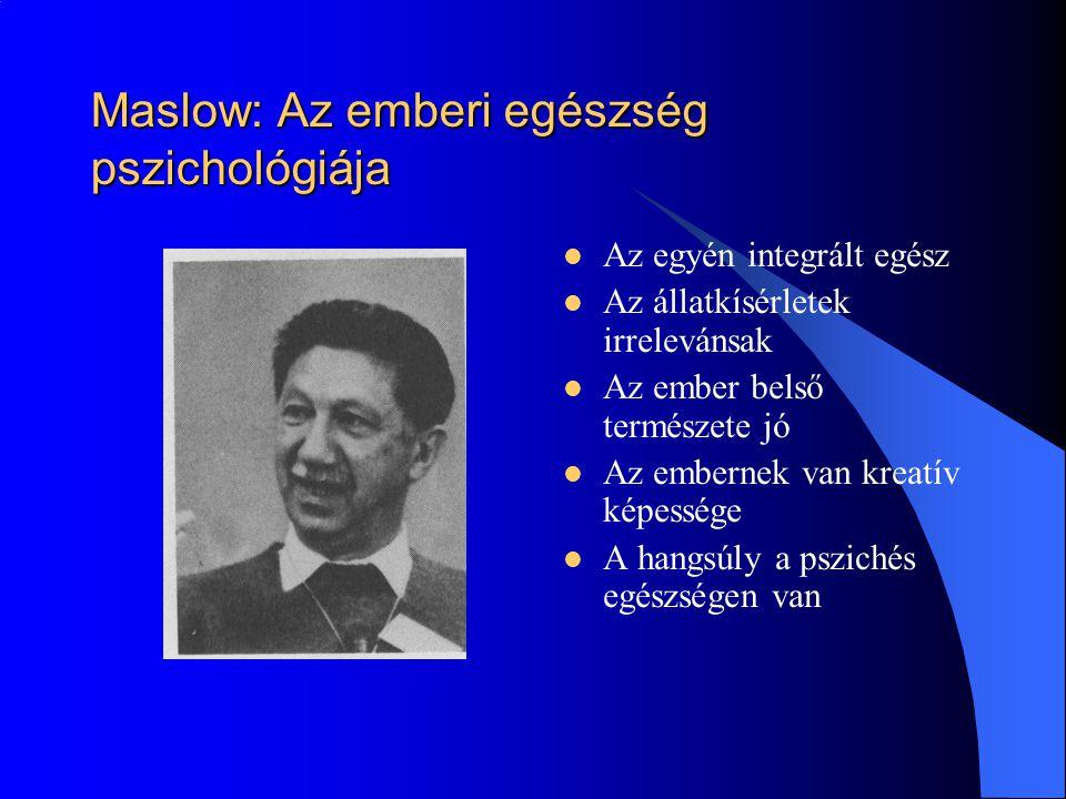 Maslow: Az emberi egészség pszichológiája