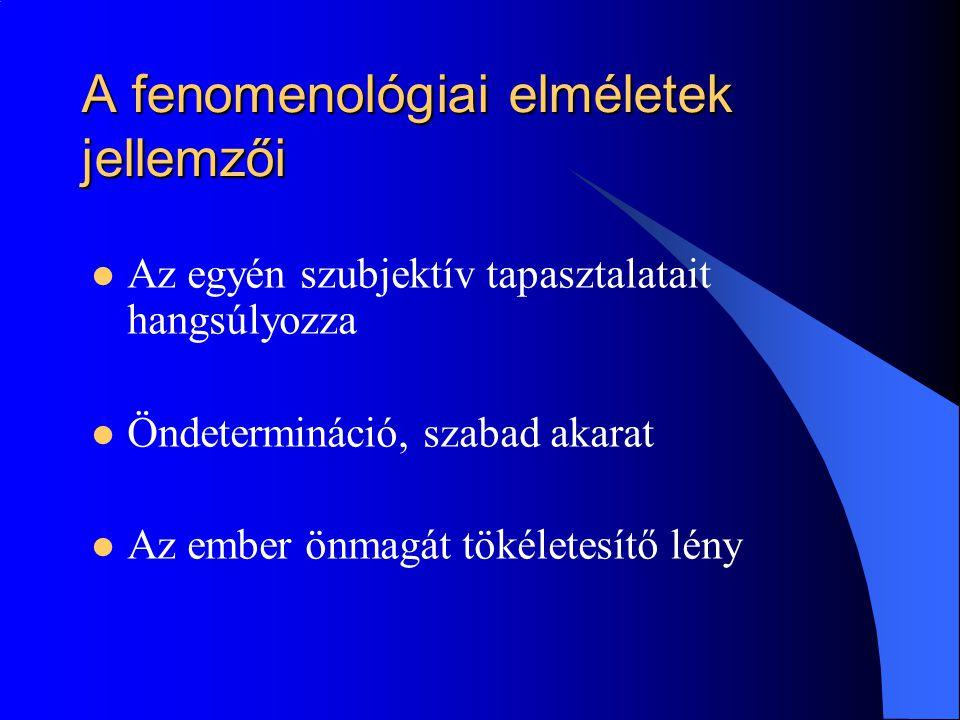 A fenomenológiai elméletek jellemzői