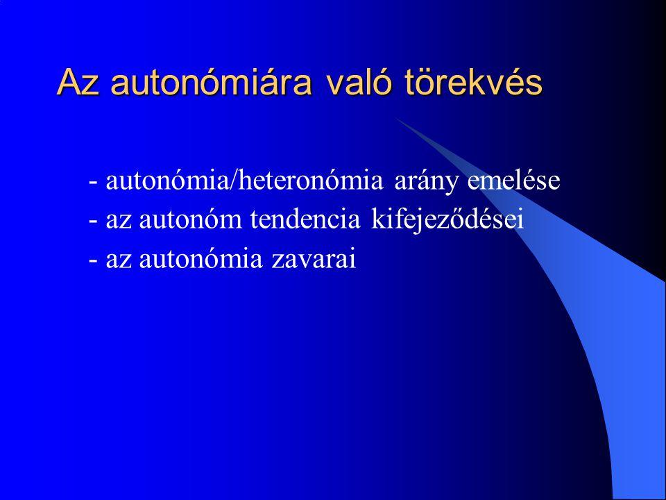 Az autonómiára való törekvés