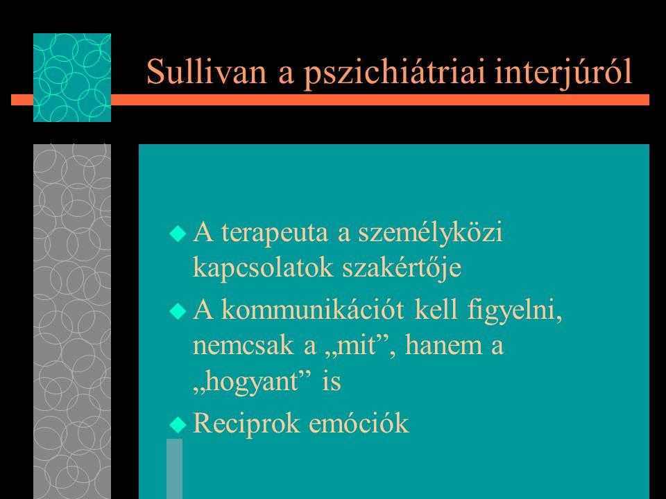 Sullivan a pszichiátriai interjúról