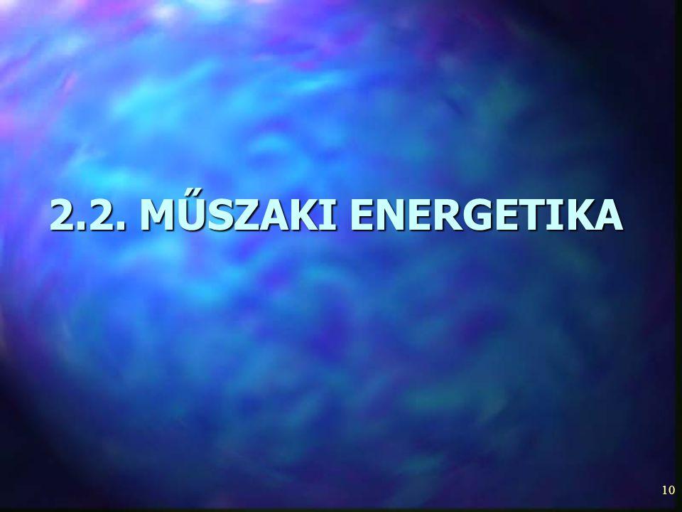2.2. MŰSZAKI ENERGETIKA