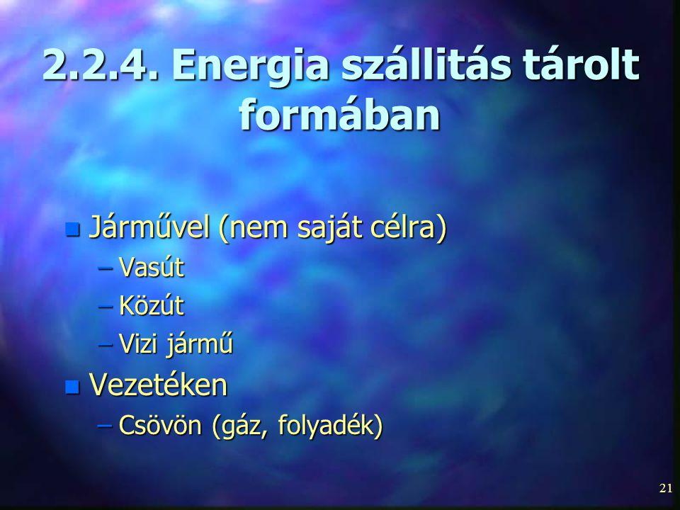 2.2.4. Energia szállitás tárolt formában