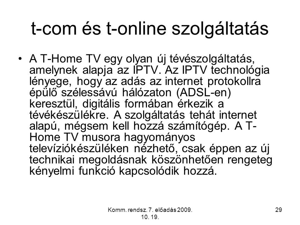 t-com és t-online szolgáltatás