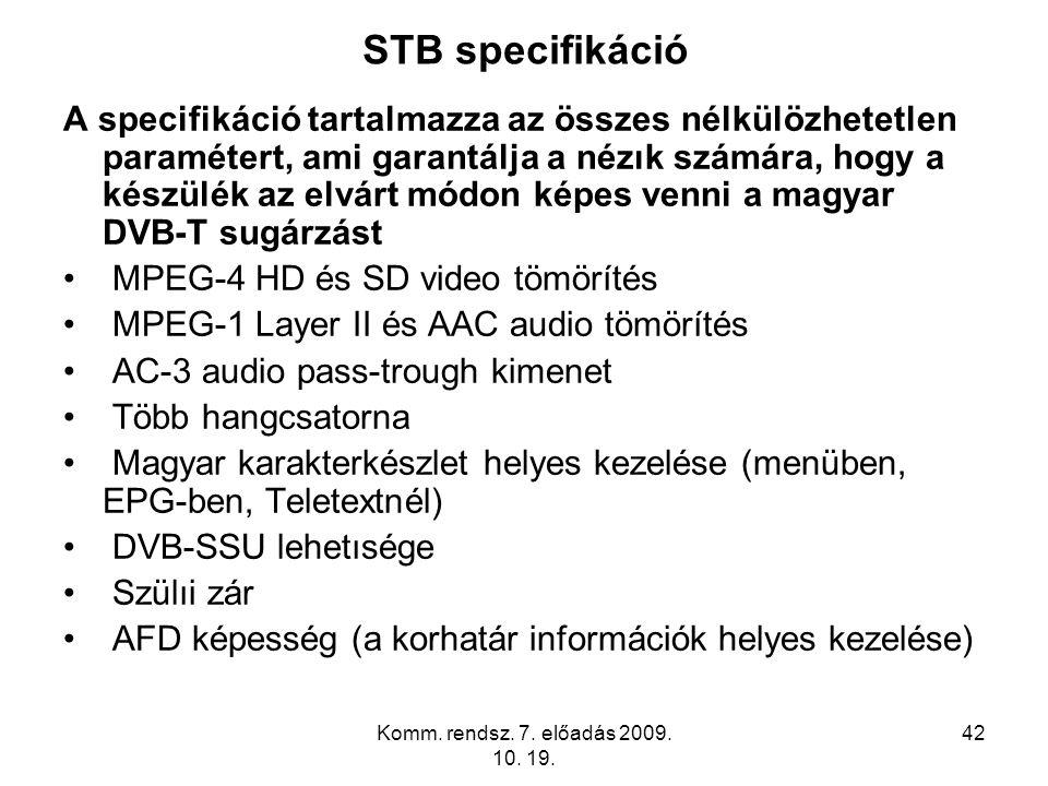 STB specifikáció