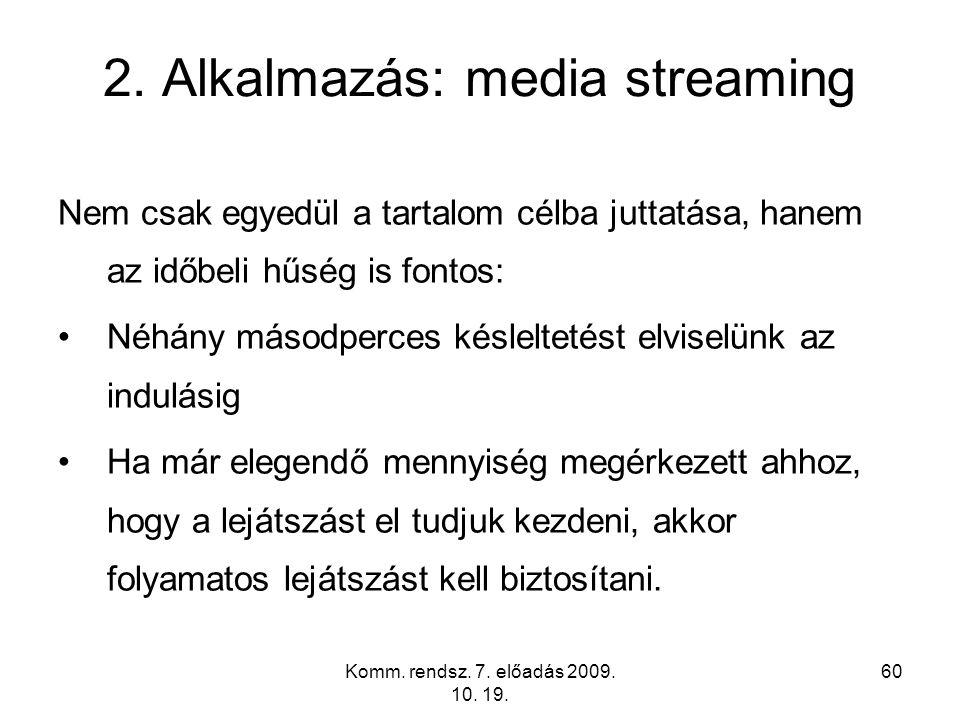 2. Alkalmazás: media streaming