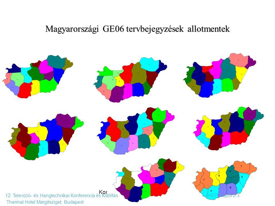 Magyarországi GE06 tervbejegyzések allotmentek