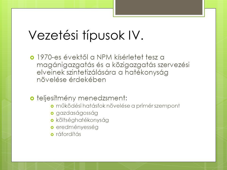Vezetési típusok IV.
