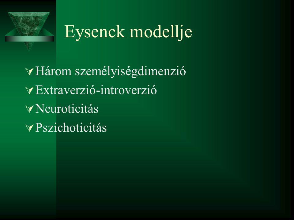 Eysenck modellje Három személyiségdimenzió Extraverzió-introverzió