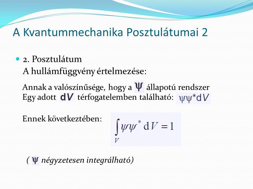 A Kvantummechanika Posztulátumai 2