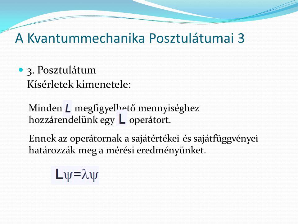 A Kvantummechanika Posztulátumai 3