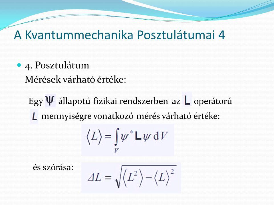 A Kvantummechanika Posztulátumai 4
