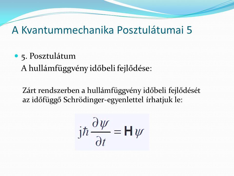 A Kvantummechanika Posztulátumai 5