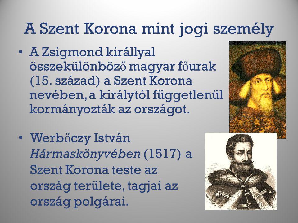 A Szent Korona mint jogi személy