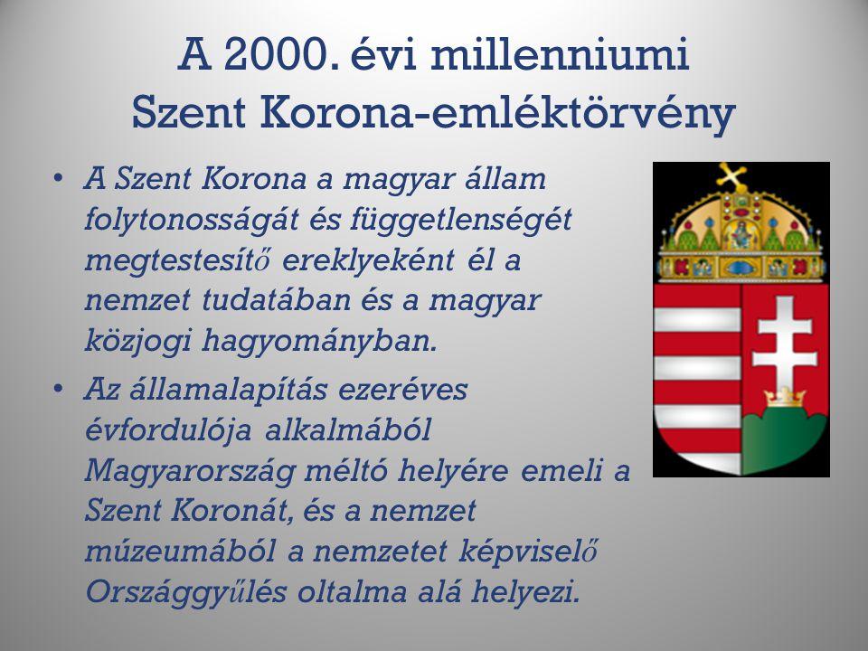 A 2000. évi millenniumi Szent Korona-emléktörvény
