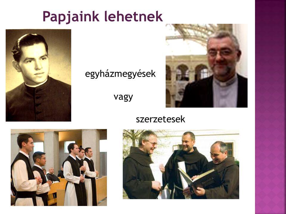 Papjaink lehetnek egyházmegyések vagy szerzetesek