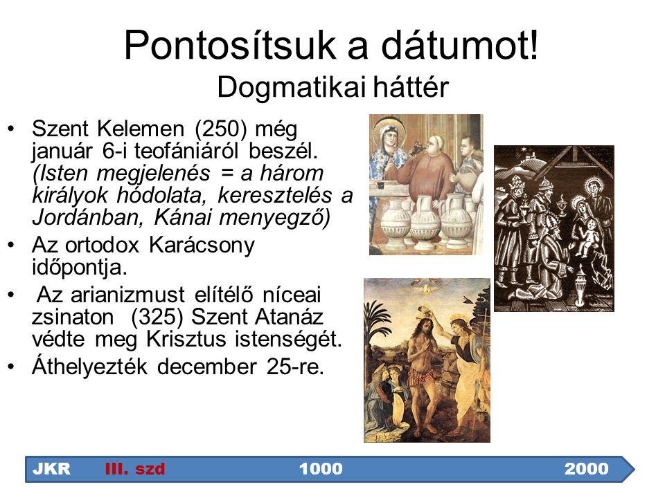 Pontosítsuk a dátumot! Dogmatikai háttér