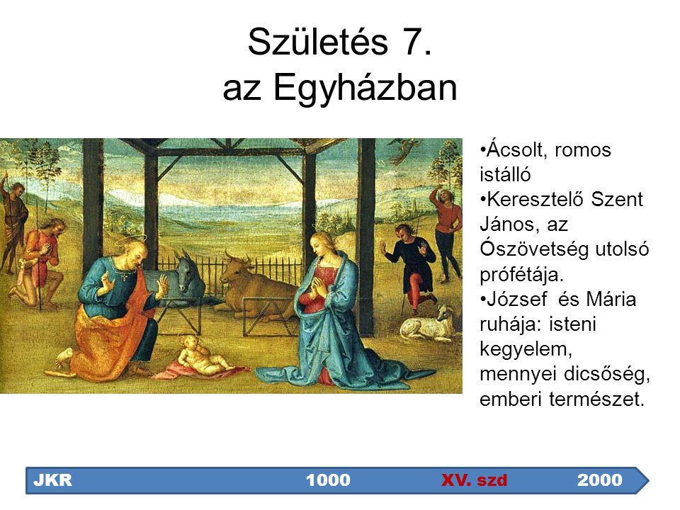 Születés 7. az Egyházban Ácsolt, romos istálló