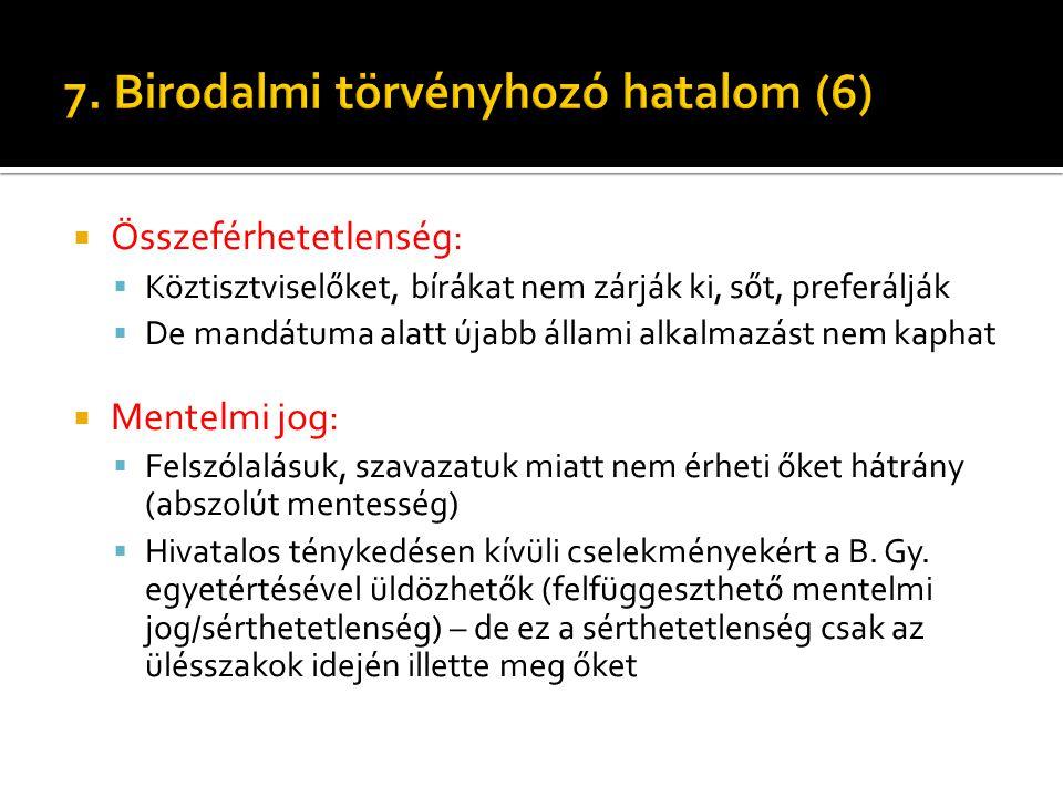 7. Birodalmi törvényhozó hatalom (6)