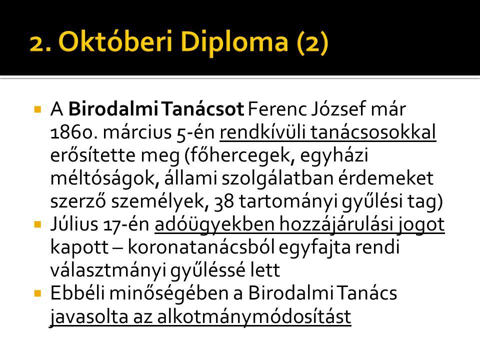 2. Októberi Diploma (2)