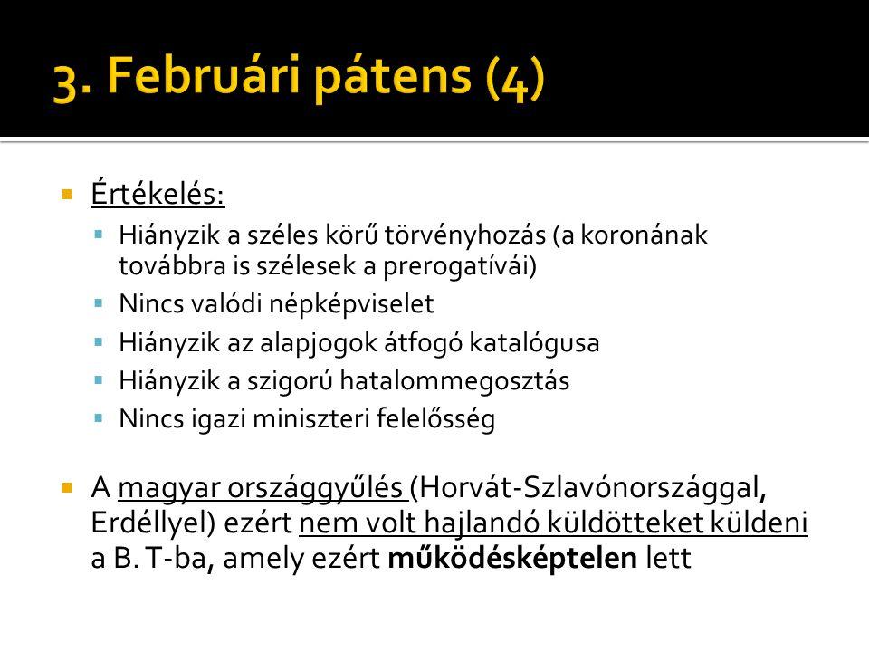 3. Februári pátens (4) Értékelés: