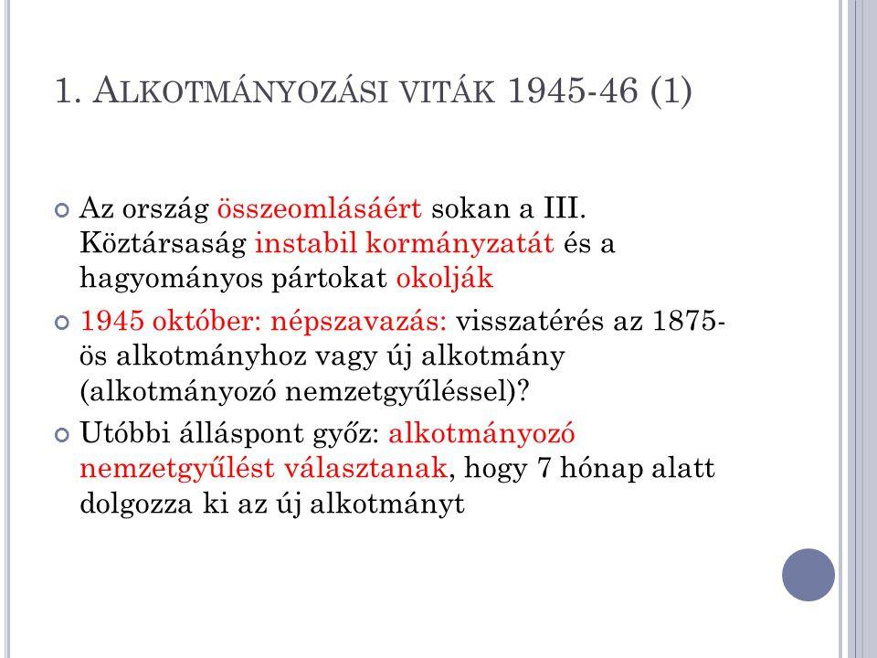 1. Alkotmányozási viták 1945-46 (1)