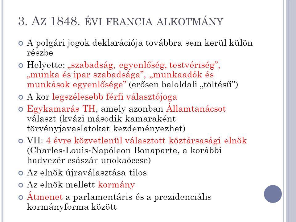 3. Az 1848. évi francia alkotmány