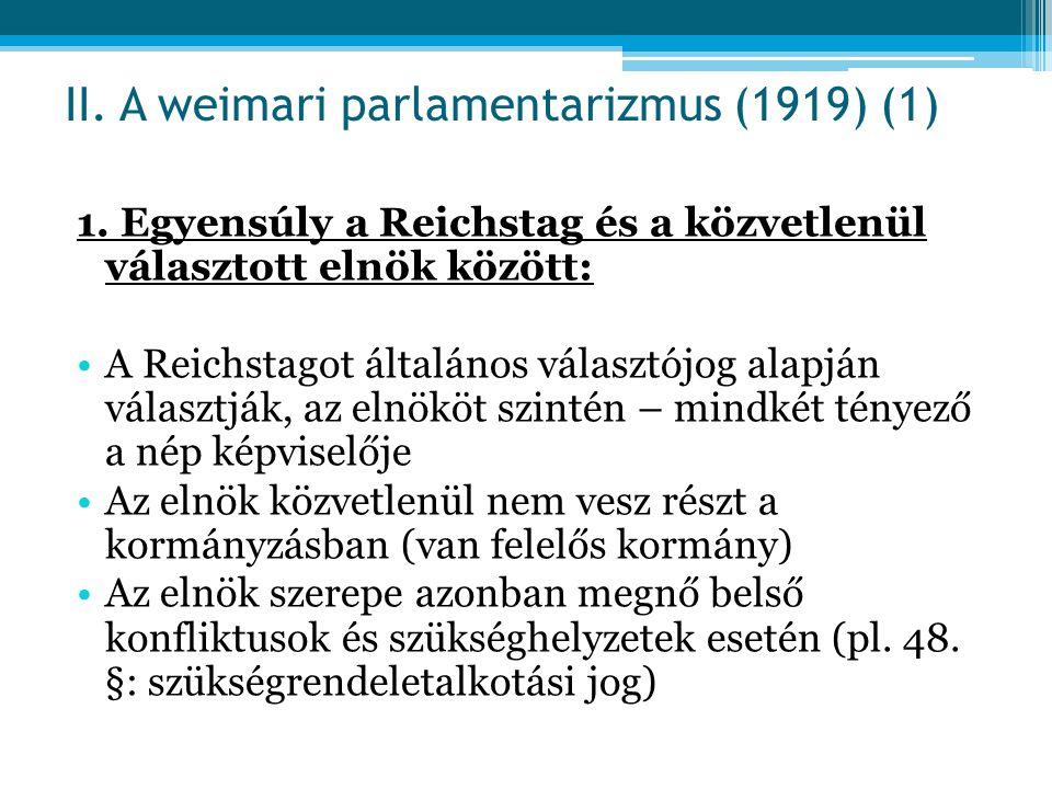II. A weimari parlamentarizmus (1919) (1)
