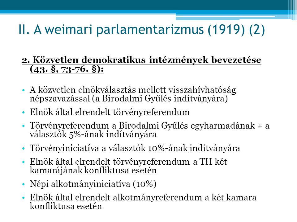 II. A weimari parlamentarizmus (1919) (2)