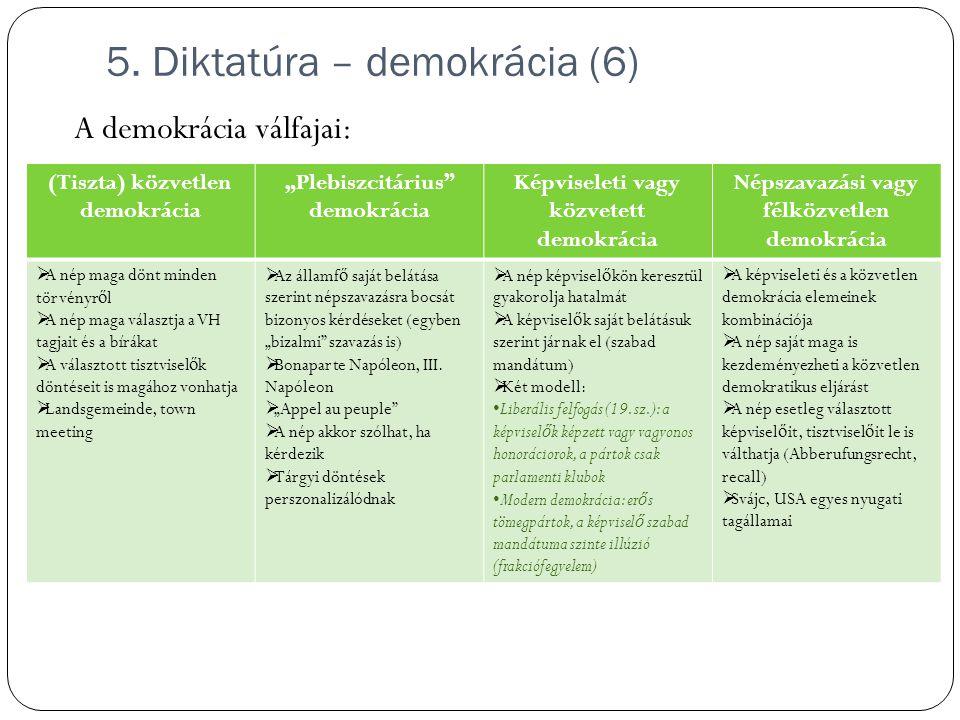 5. Diktatúra – demokrácia (6)