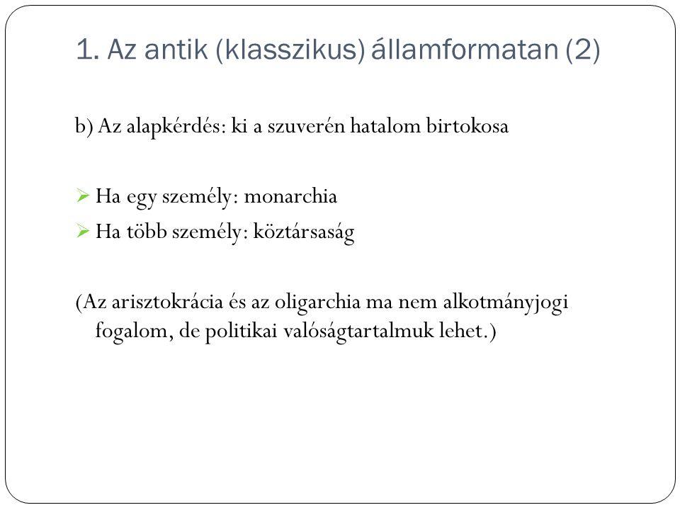 1. Az antik (klasszikus) államformatan (2)