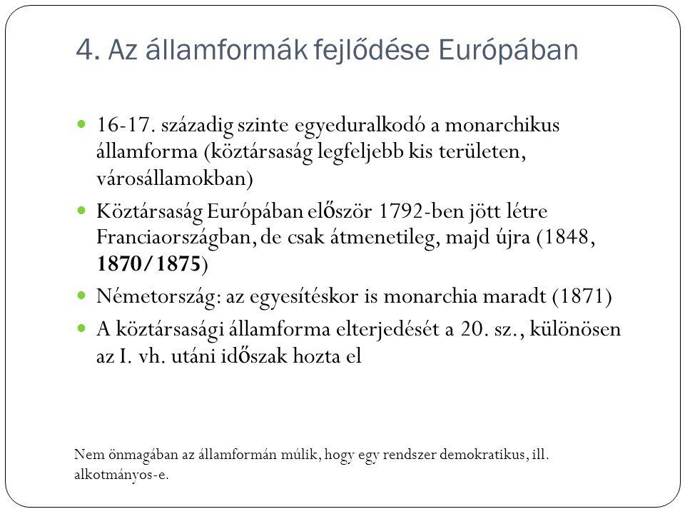 4. Az államformák fejlődése Európában