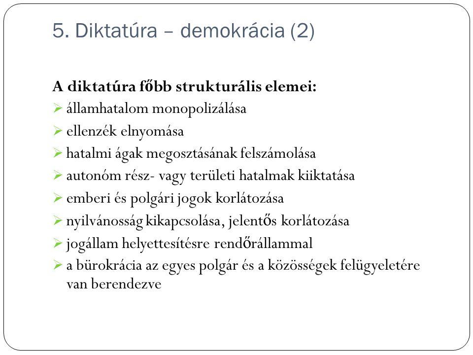 5. Diktatúra – demokrácia (2)