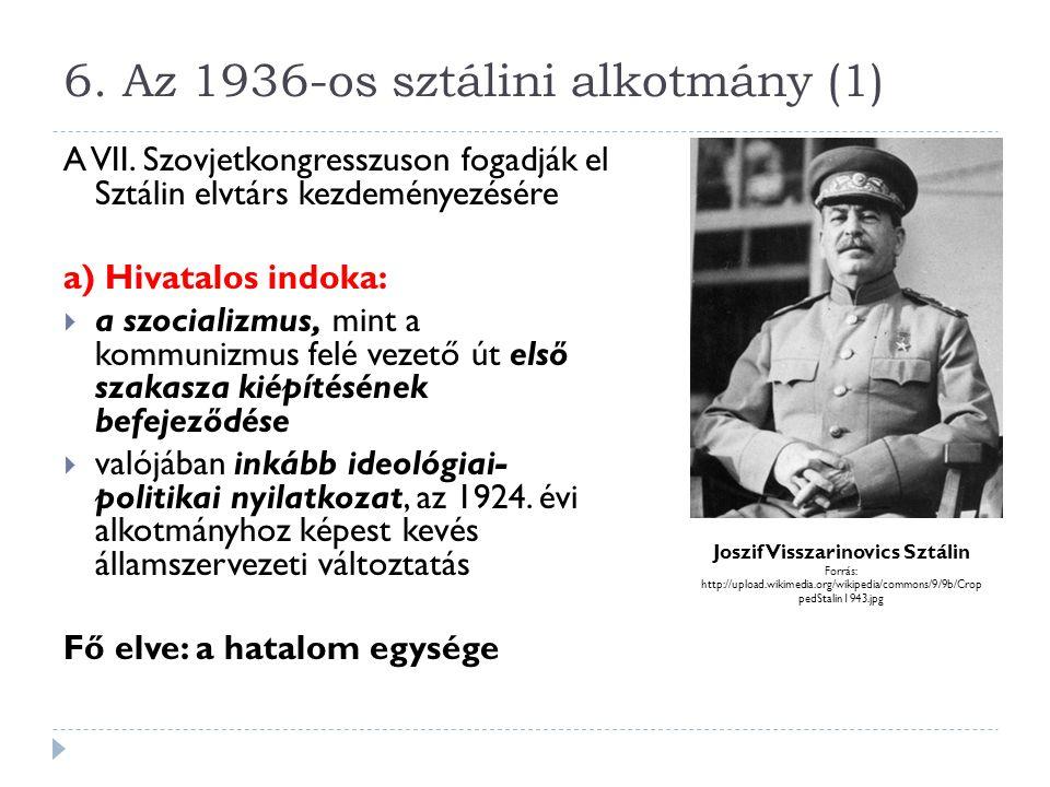 6. Az 1936-os sztálini alkotmány (1)
