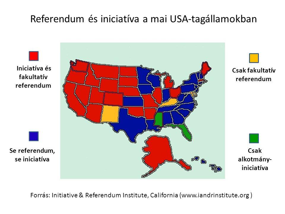 Referendum és iniciatíva a mai USA-tagállamokban
