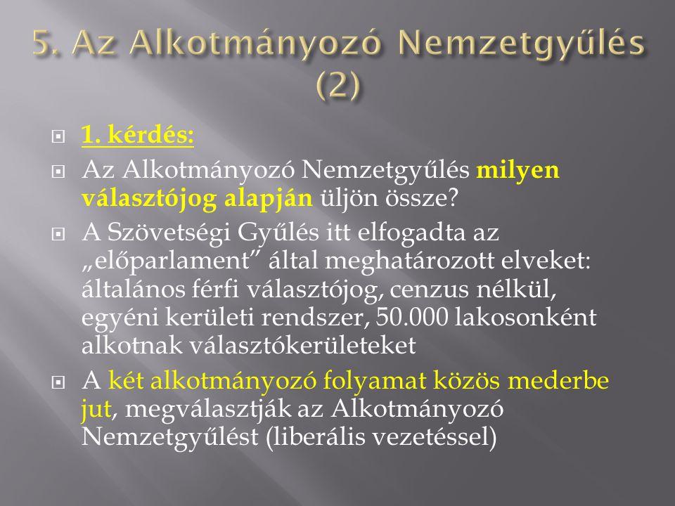 5. Az Alkotmányozó Nemzetgyűlés (2)