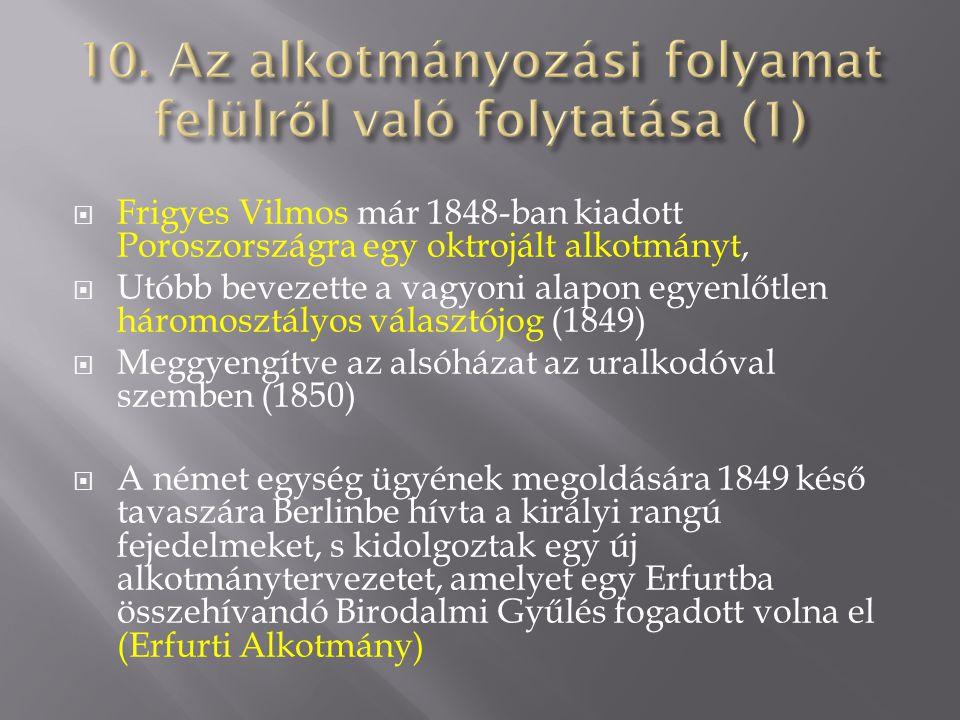 10. Az alkotmányozási folyamat felülről való folytatása (1)
