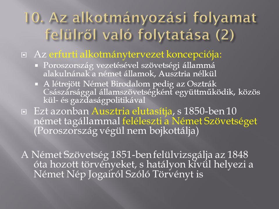 10. Az alkotmányozási folyamat felülről való folytatása (2)