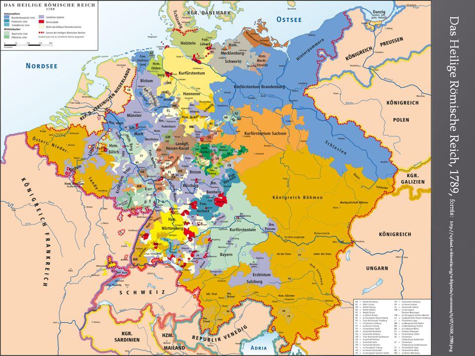 Das Heilige Römische Reich, 1789, forrás: http://upload. wikimedia