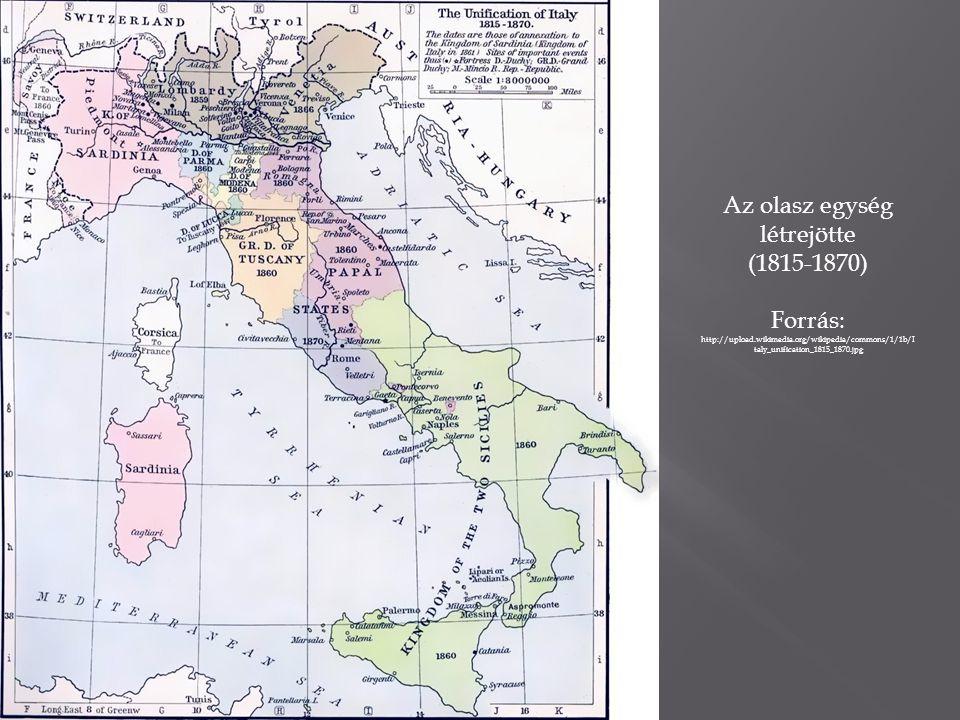 Az olasz egység létrejötte