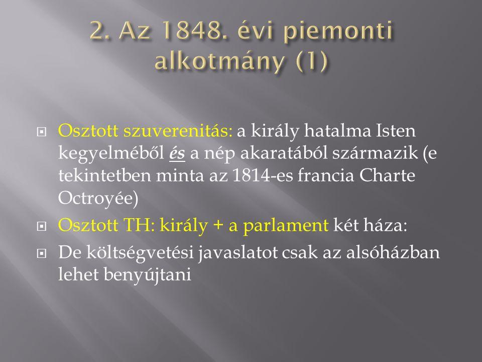 2. Az 1848. évi piemonti alkotmány (1)