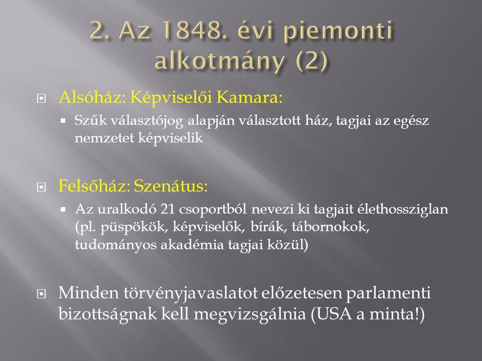 2. Az 1848. évi piemonti alkotmány (2)
