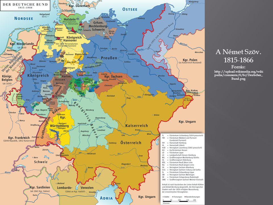 A Német Szöv. 1815-1866.
