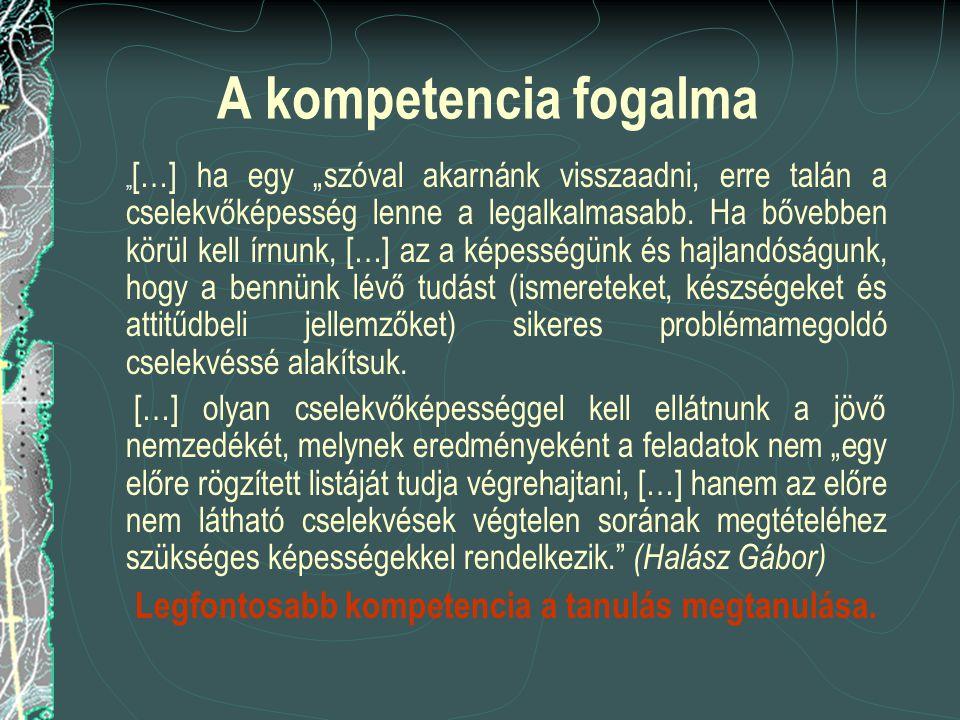 Legfontosabb kompetencia a tanulás megtanulása.