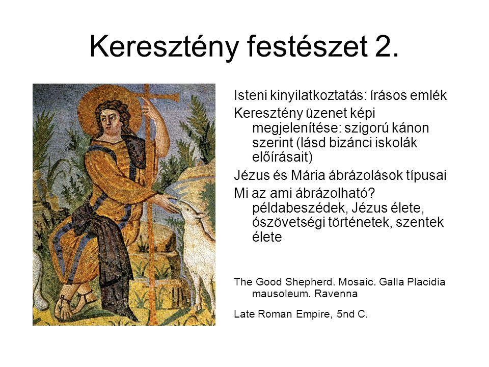 Keresztény festészet 2. Isteni kinyilatkoztatás: írásos emlék